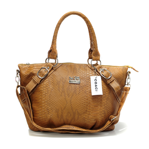 Coach Madison Embossed Medium Brown Totes DEP